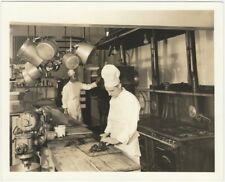 1930s Heidelberg Club Kitchen Chef Prepares Lobster Silver Gelatin Photo
