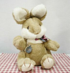 GUND Collectors Classic 1983 Rabbit / Bunny plush toy w/ bow, tag Vintage (K6)