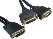 DVI Digital Dual Signal Splitter Duplicator - Splitt 1 Video Connection into 2
