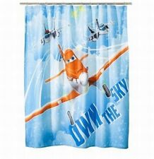 "Disney PLANES Shower Curtain Fabric Bathroom Decor 70x72"" [J9]"
