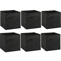 6pcs Clothes Toys Books Storage Fabric Cubes Boxs Baskets Foldable Assembled