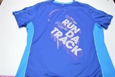 "PUMA XL Blue Athletic "" Run Da Track ""Men's Shirt"