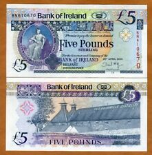 Bank of Ireland, Northern, 5 pounds, 2008, P-83, Unc