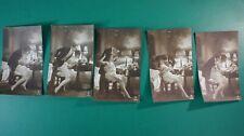 5 Ansichtskarten Postkarten Bilderserie Frau reizend erotisch Studio K-881