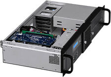 "2U(Fan LCD)(PCI-E Riser) ITX(2x5.25""+6x HDD)(Rackmount Chassis) D:9.84"" Case NEW"