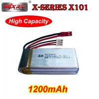 1x 7.4V 1200mAh Lipo Battery For MJX X101 FPV Camera RC Quad Drone Spare Parts