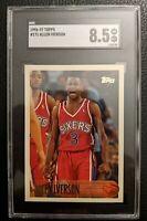 1996 TOPPS #171 ALLEN IVERSON ROOKIE CARD RC SIXERS HOF SGC 8.5 NM-MT +