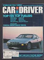 Car and Driver Magazine November 1979 Porsche 924 Toyota Dodge Datsun Honda