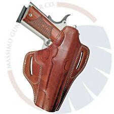 "Colt 1911 5"" Pancake OWB Leather Gun Belt Holster"
