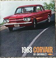 Vintage 1963 Corvair Automobile  by Chevrolet Brochure Advertising Car Excellent