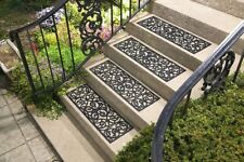 Set of 4 Heavy Duty Rubber Butterfly Porch Patio Stair Traction Treads