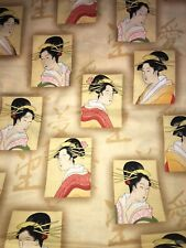 JAPANESE GEISHA fabric, Cream! 1 yard!