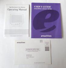 1998 emachines User's Guide emachines etower HR Monitor Op Man & Registration