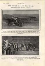 1906 Racing Motor Cars On The Stage Vanderbilt Cup Bedford's Hope