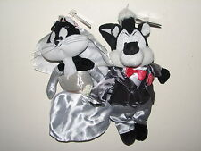 Warner Bros Store Pepe Le Pew Groom Penelope Bride Wedding Bean Bag Doll NWT '99