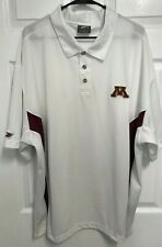 Minnesota Golden Gophers Men White Short Sleeve Golf Polo Shirt Xxl Pro Player 2