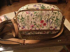 IMAN Floral Print Handbag