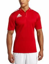 adidas 3 Stripe Rugby Teamwear Short Sleeve Shirt Union League Training Kit Red