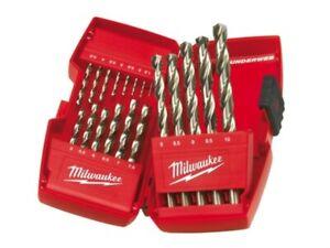 """MILWAUKEE """"METAL"""" DRILL BITS - 19 BITS - HSS-G - DIN 338 - 4932-3523 74 """"NEW"""""""