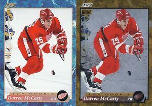 Darren McCarty 1993-94 Score Series 2 Base & Gold Rush Rookie Cards # 631