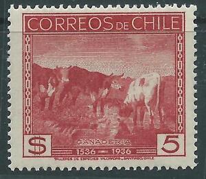 CHILE 1936 Sc.196 Cows 5 pesos MNH