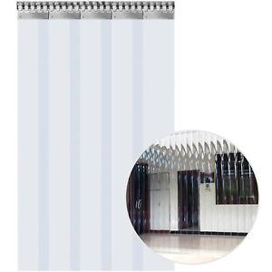 VEVOR 5 PCS Rideau à Lamelles PVC Aspect Transparent Bandes de Rideau 1,25x2 m