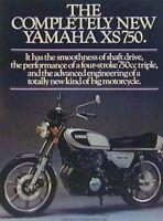 YAMAHA XS750 3 Page Original Motorcycle Ad 1976 XS 750
