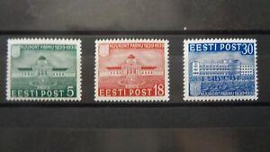 Estonia. 1939. Michel 148, 150, 151 (incomplete set). MNH.