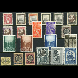 VATICAN 1933-56 Selection. 20 Values. Condition Mixed. (WD058)