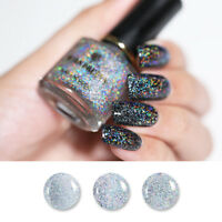 6ml Glitter Holographic Top Coat Clear Sequined Nail Polish  BORN PRETTY