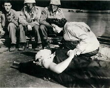 WW2 Photo WWII US Navy Flight Nurse Wounded GI Iwo Jima WWII World War Two/ 1220