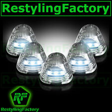 04-15 FORD F150 F-150 5pcs Cab Roof Maker WHITE LED Lights CLEAR Lens truck