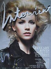 JANUARY JONES August 2009 INTERVIEW Magazine TAYLOR LAUTNER  MIRANDA JULY +++
