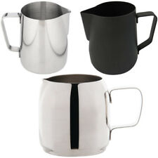 Stainless Steel Milk Frothing Jug in 350mm 600mm Black Barista Coffee Measuring