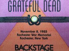 Grateful Dead Backstage Pass 11-8-1985 Rochester New York Rick Griffin Artwork!