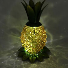 Solar Pineapple Jar Light LED Glass Solar Table Lamp Outdoor Lantern Clear