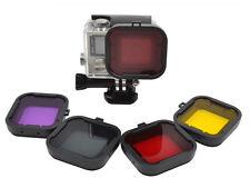 4 Colour Filter Set GoPro HERO 3+ 4 camera Underwater diving snorkel UK SELLER