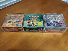 Magnet Acrylic Case x1 For ALL EX & E SERIES Pokemon Booster Boxes High Quality