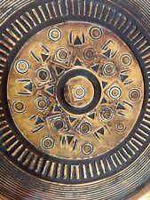Ceramic Art Dish Mid Century Pottery Amphora Perignem Belgium  Tieberghien  Lava