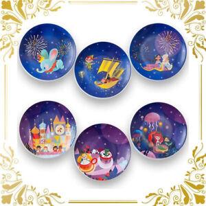 TDR Celebration Hotel It's a small world Mini Plate Set dish Dumbo Aladdin TDL