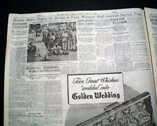 THE MASTERS TOURNAMENT Byron Nelson Wins Golf Major at Augusta GA 1942 Newspaper