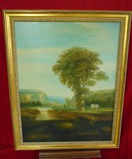 Framed Reproduction Oil Painting - Scene In The Catskills After Thomas Doughty