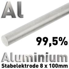 Puramente-aluminio-ánodo en aw-1050a (al 99,5) 8 x 100 mm redondo vara alrededor de barra suave