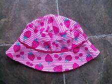 BNWNT Girl's Pink & White Nylon Summer/Sun Hat Size 1-3