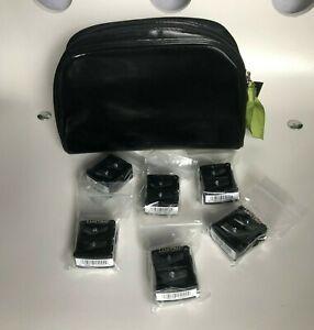 Set of 6 Lancôme 2-in-1 Black Dual Eye Pencil Sharpeners & Carry Case - NEW