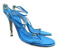 Giuseppe Zanotti Turquoise Swarovski Crystal Detail Strappy Heels Size 40 NEW