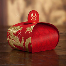 Dragon and Phoenix Printing Wedding Favor Candy Box Chinese Character -100pieces