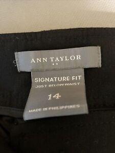 Ann Taylor Signature Fit Size 14 Black Pants
