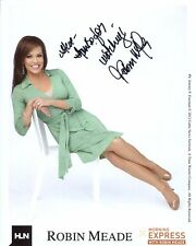 ROBIN MEADE HAND SIGNED 8x10 COLOR PHOTO     GORGEOUS+SEXY  CNN  SIGNED TO STEVE