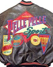 VTG Pelle Pelle Marc Buchanan Sz 42 / L Embroidered Brown Leather Bomber Jacket